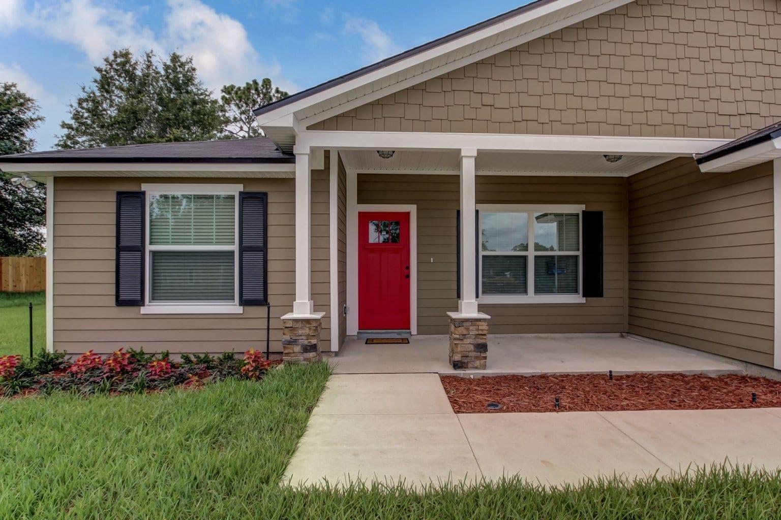red door on house
